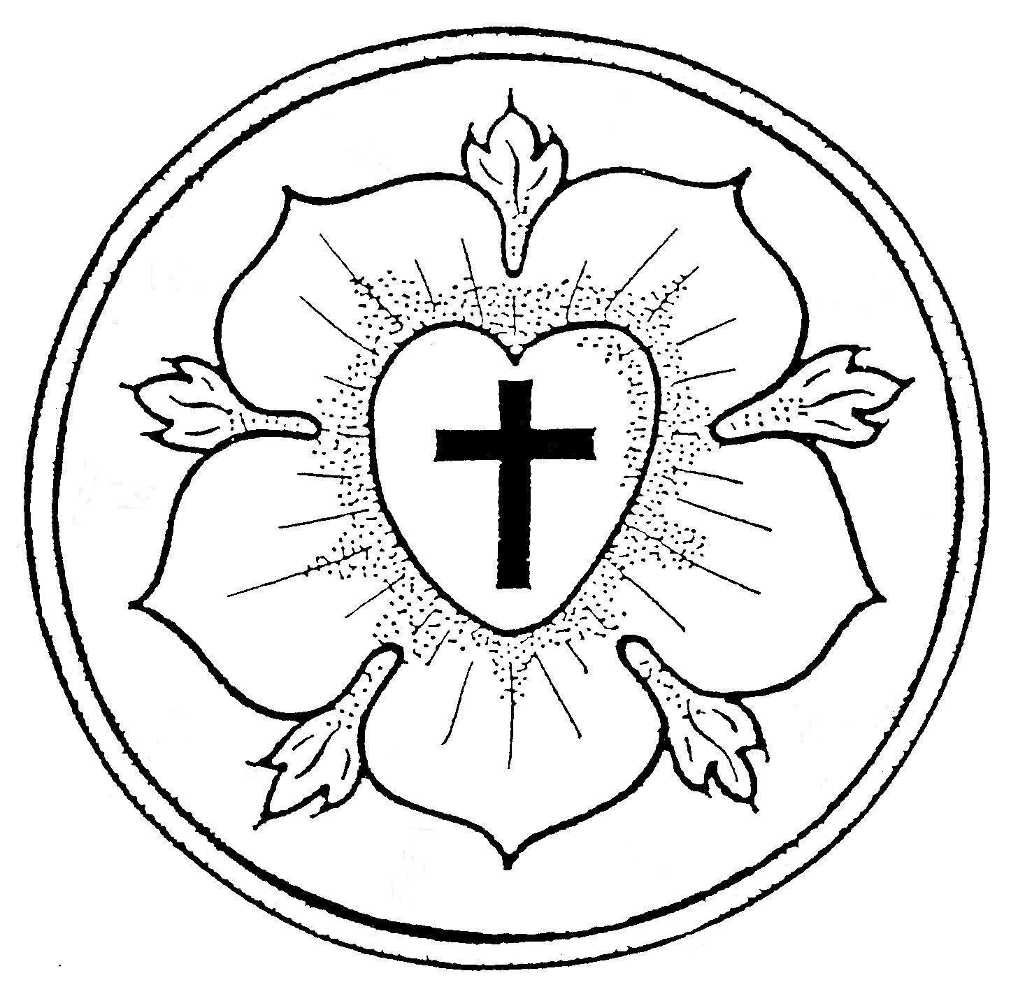 Luther Rose Coloring Page